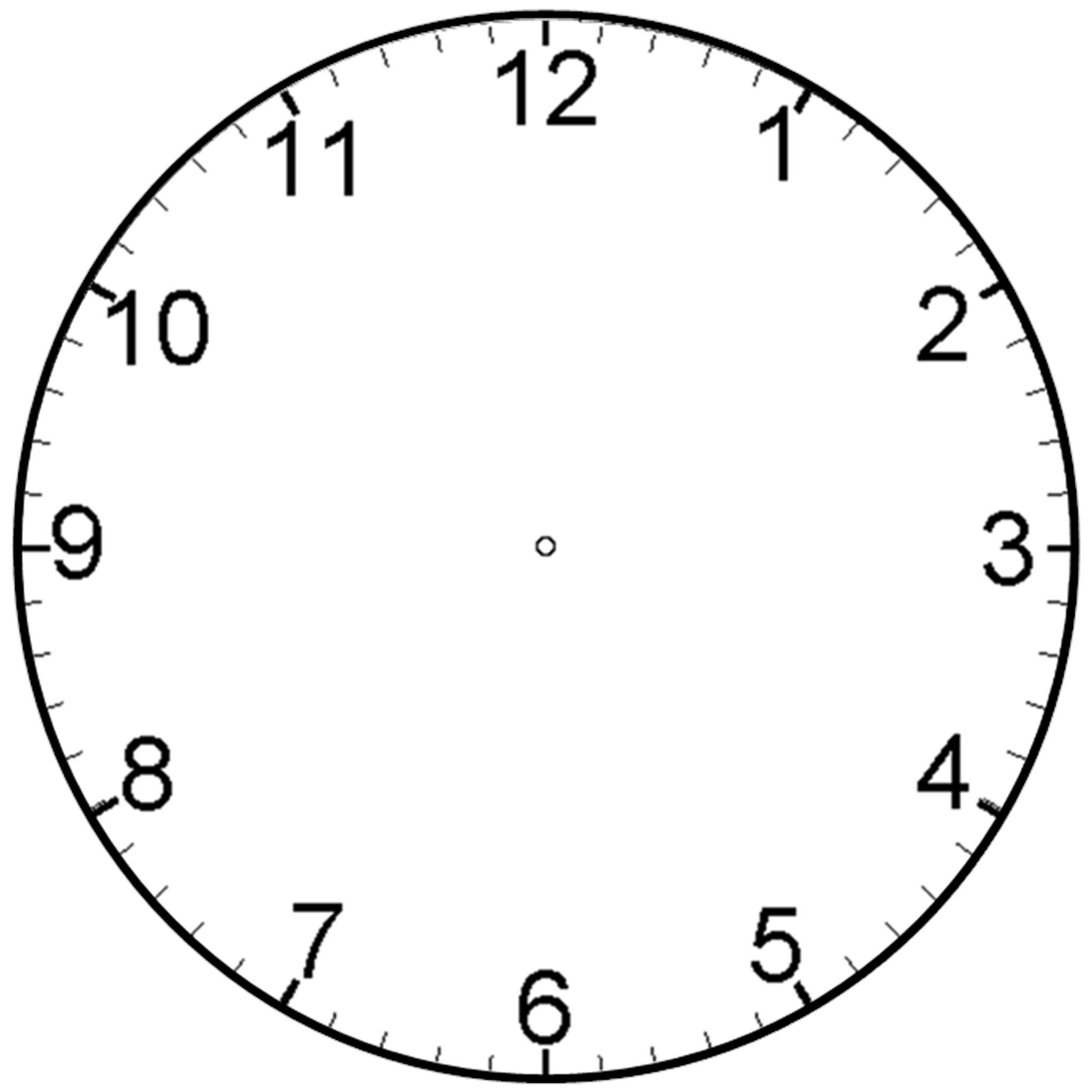 2040x2040 Analog Clock Clip Art