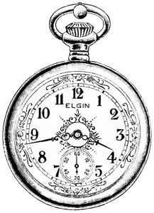 Clock Clipart Black And White