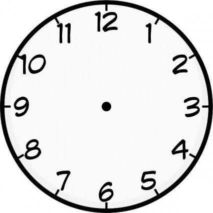 425x425 Clock Face Clip Art, Vector Clock Face
