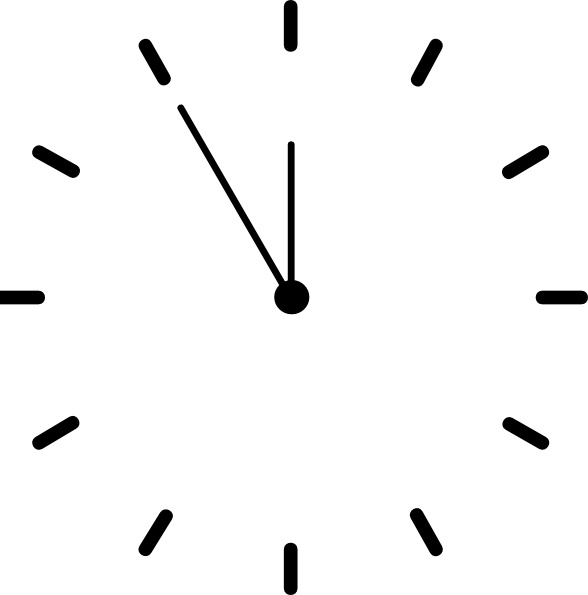 588x595 Clock Clip Art Free Vector In Open Office Drawing Svg ( Svg