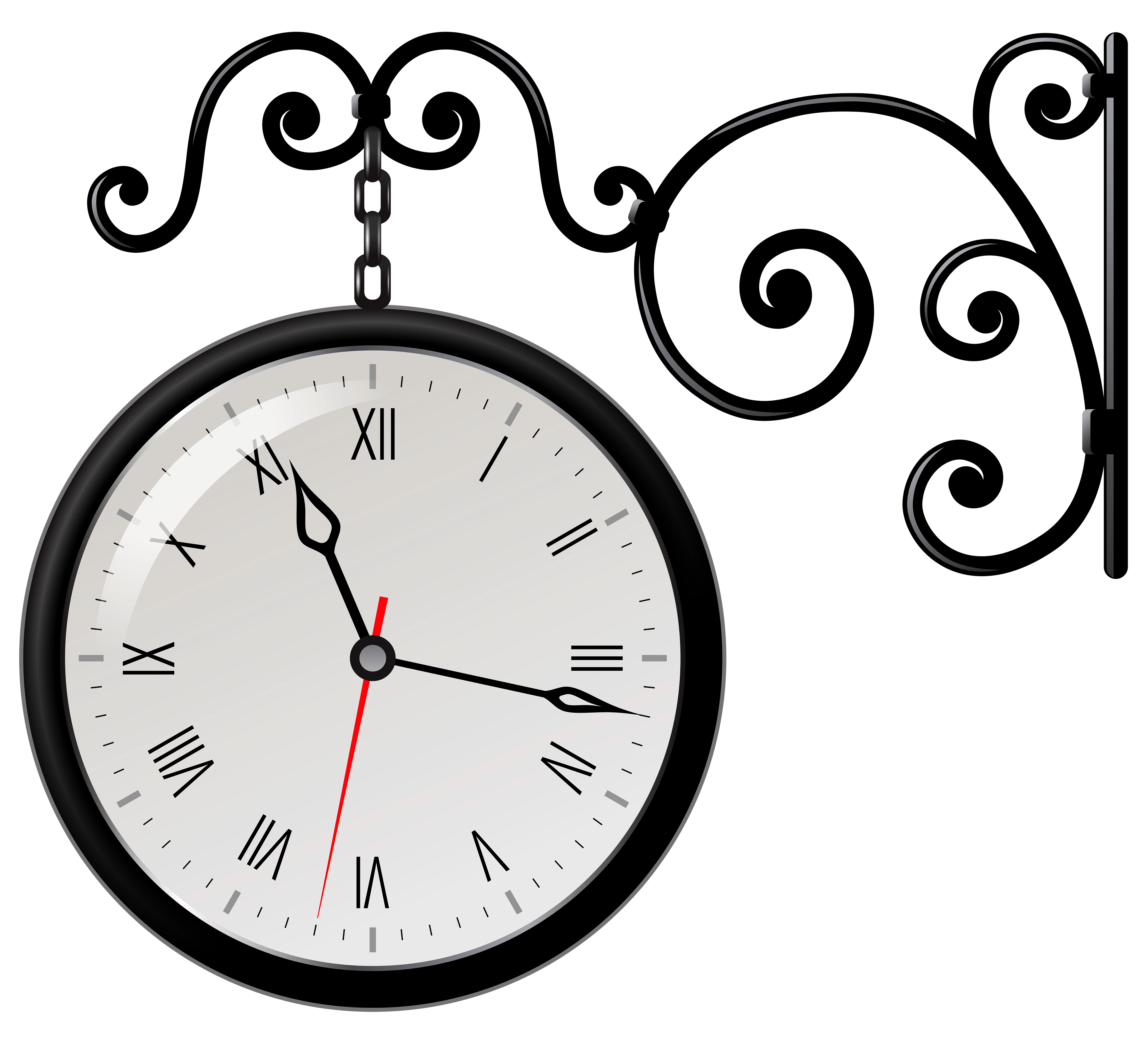 4984x4523 Clock Clipart Black And White Free Images 2