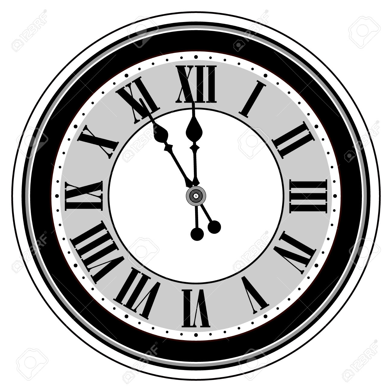 1300x1300 Clock Clipart Midnight