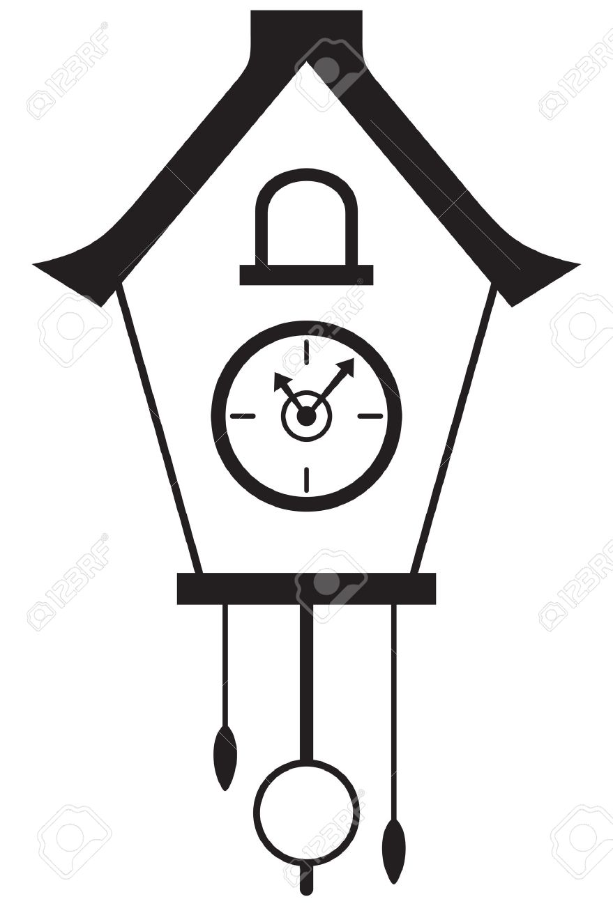 879x1300 Cuckoo Clock Isolated On White Background Royalty Free Cliparts