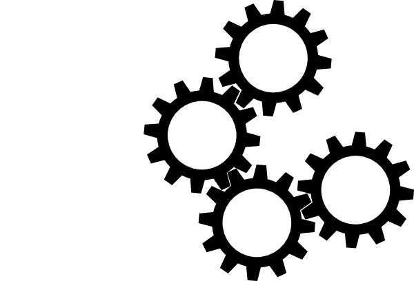 600x408 Gears Clipart Black And White