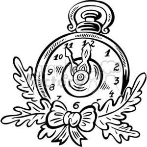 300x300 Royalty Free Christmas Clock 381070 Vector Clip Art Image