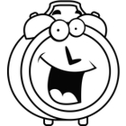 140x140 Black And White Clipart Clock