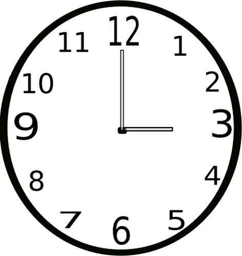 Clock Clipart Black And White   Free download on ClipArtMag