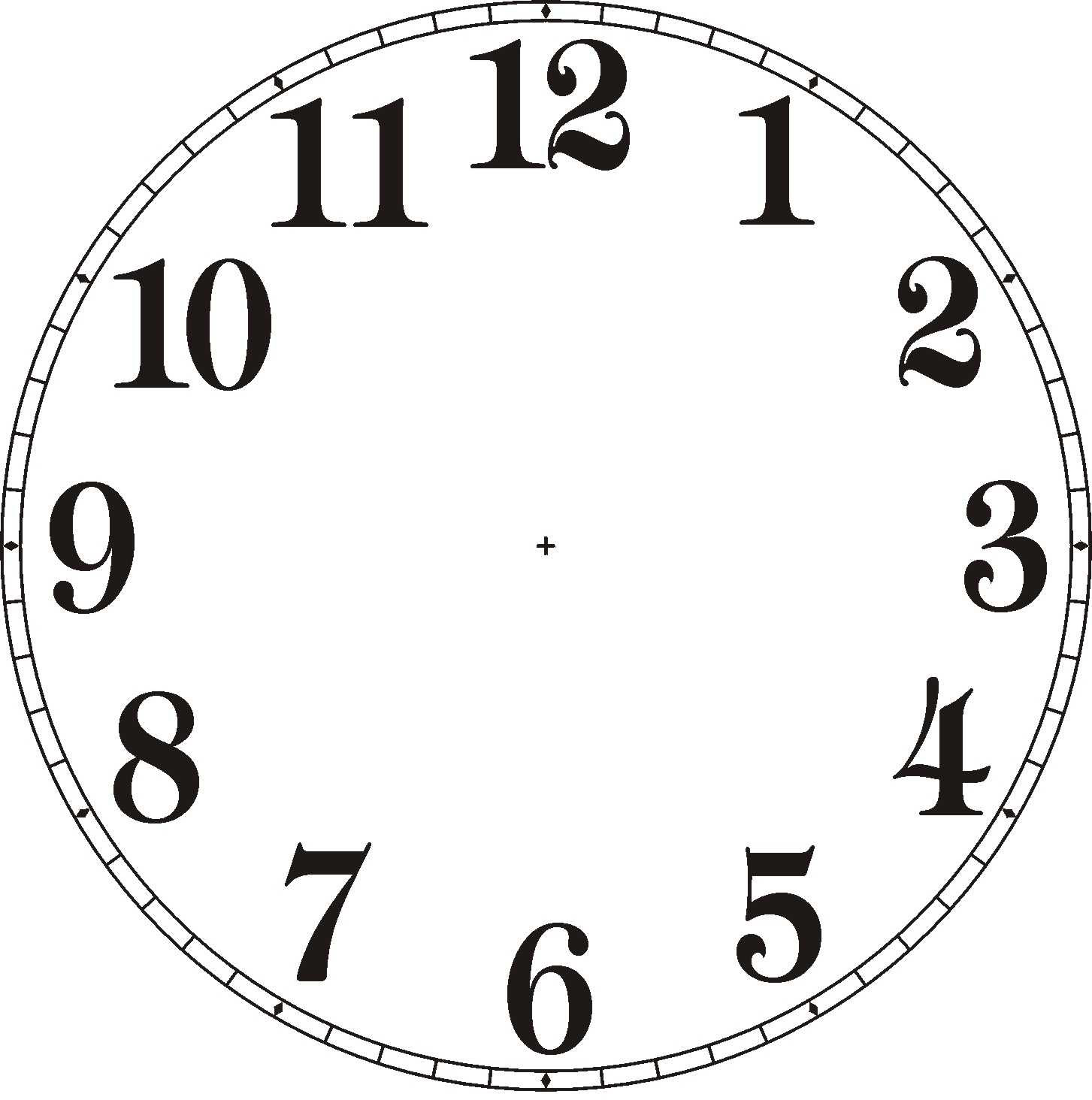 1453x1464 Clock Without Hands Free Clip Art