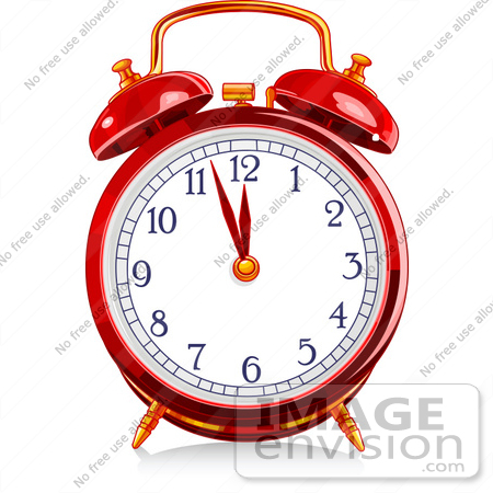 450x450 Royalty Free (Rf) Clip Art Illustration Of A Red Shiny Alarm Clock