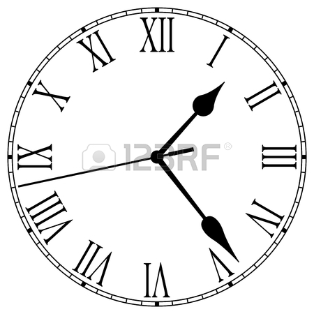 450x450 Clock Face With Roman Numerals Royalty Free Cliparts, Vectors, And