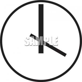 350x350 Clock clipart clock face
