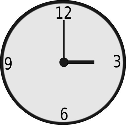 500x496 Clock clipart plain