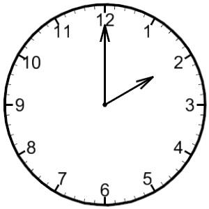 300x300 Noon Clock Clipart