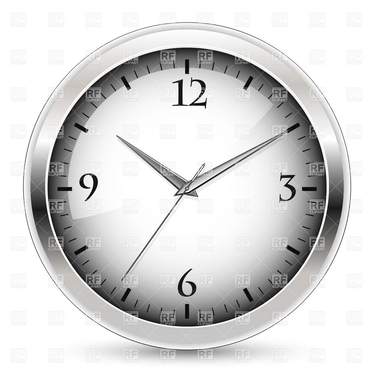 1200x1200 Office wall clock Royalty Free Vector Clip Art Image