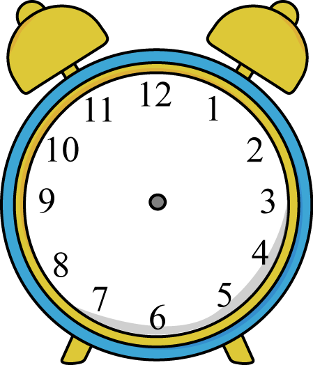 449x524 Alarm Clock without Hands Clip Art