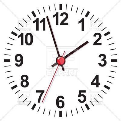 400x400 White clock face Royalty Free Vector Clip Art Image