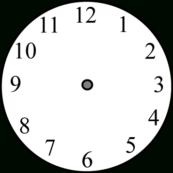 357x357 clock face without hands clip art