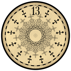 300x300 Clip Art 13 hour clock face by Jackson Manor. This is a png image