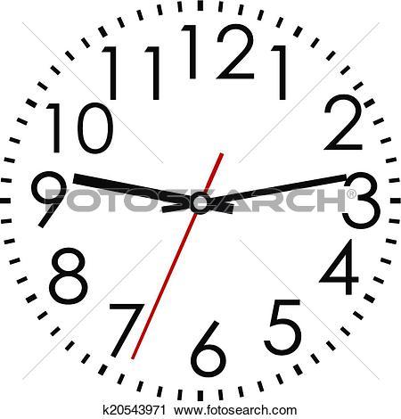 450x470 Clipart arabic clock