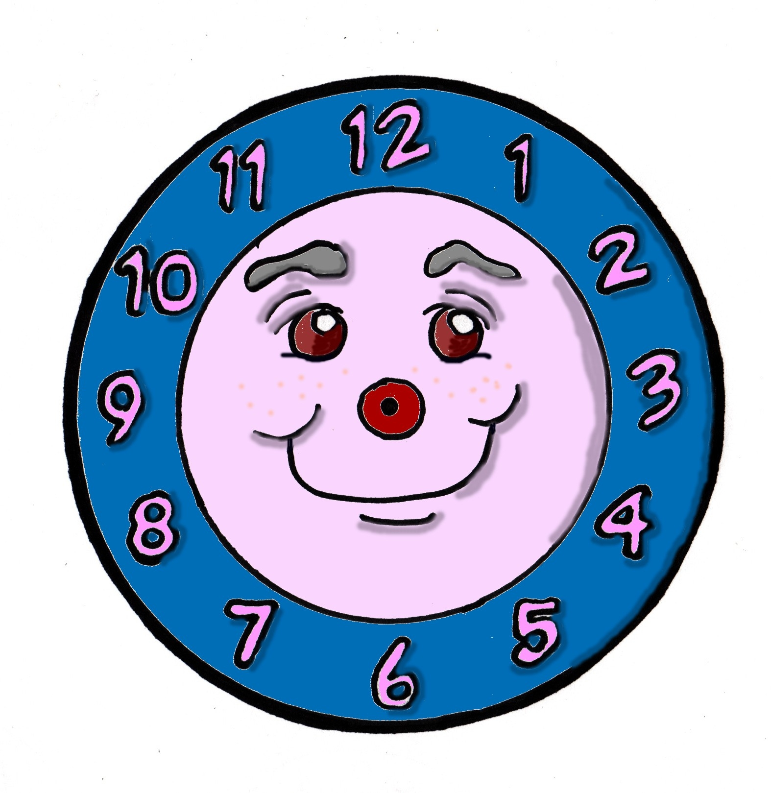 1574x1619 Clipart clock with no hands