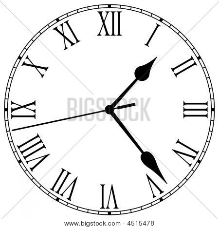 450x470 Clock Face Images, Illustrations, Vectors