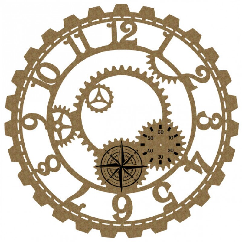 800x800 Steampunk Clock Face 4