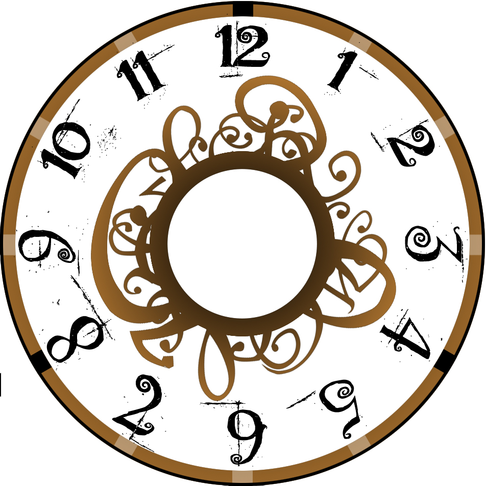 952x952 Steampunk Clipart Clock Face
