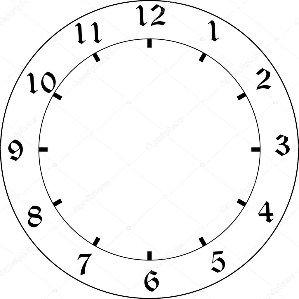 1024x1024 Clock Face Stock Vector Amekamura