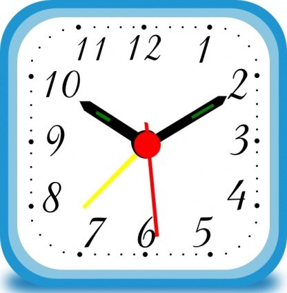 416x425 Clock Clip Art, Vector Clock
