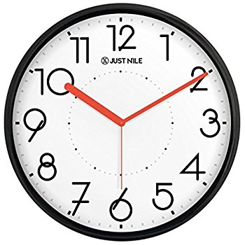 350x350 Justnile Silent Non Ticking Modern Wall Clock