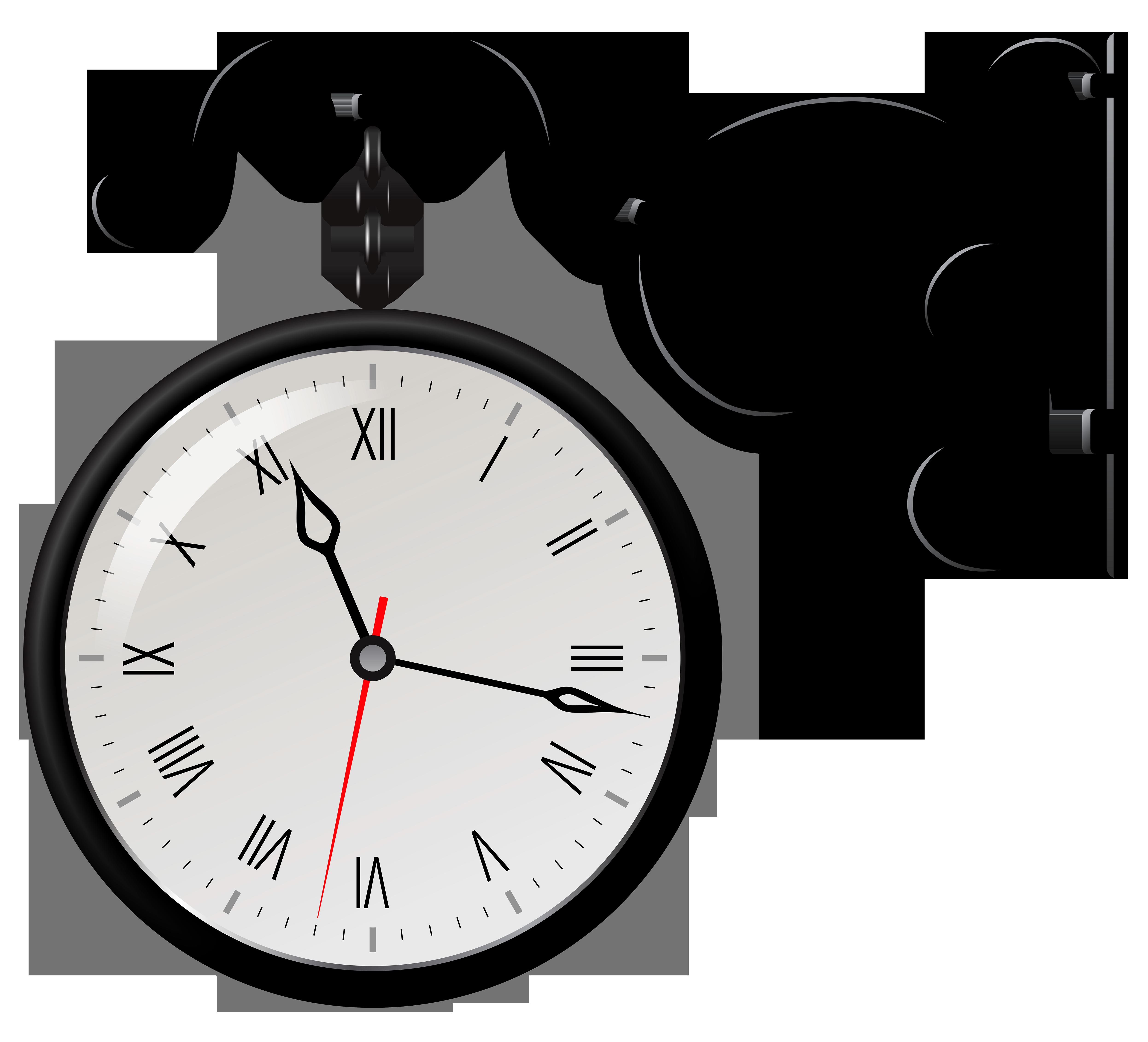 4984x4523 Street Clock Clip Art Web Clipart