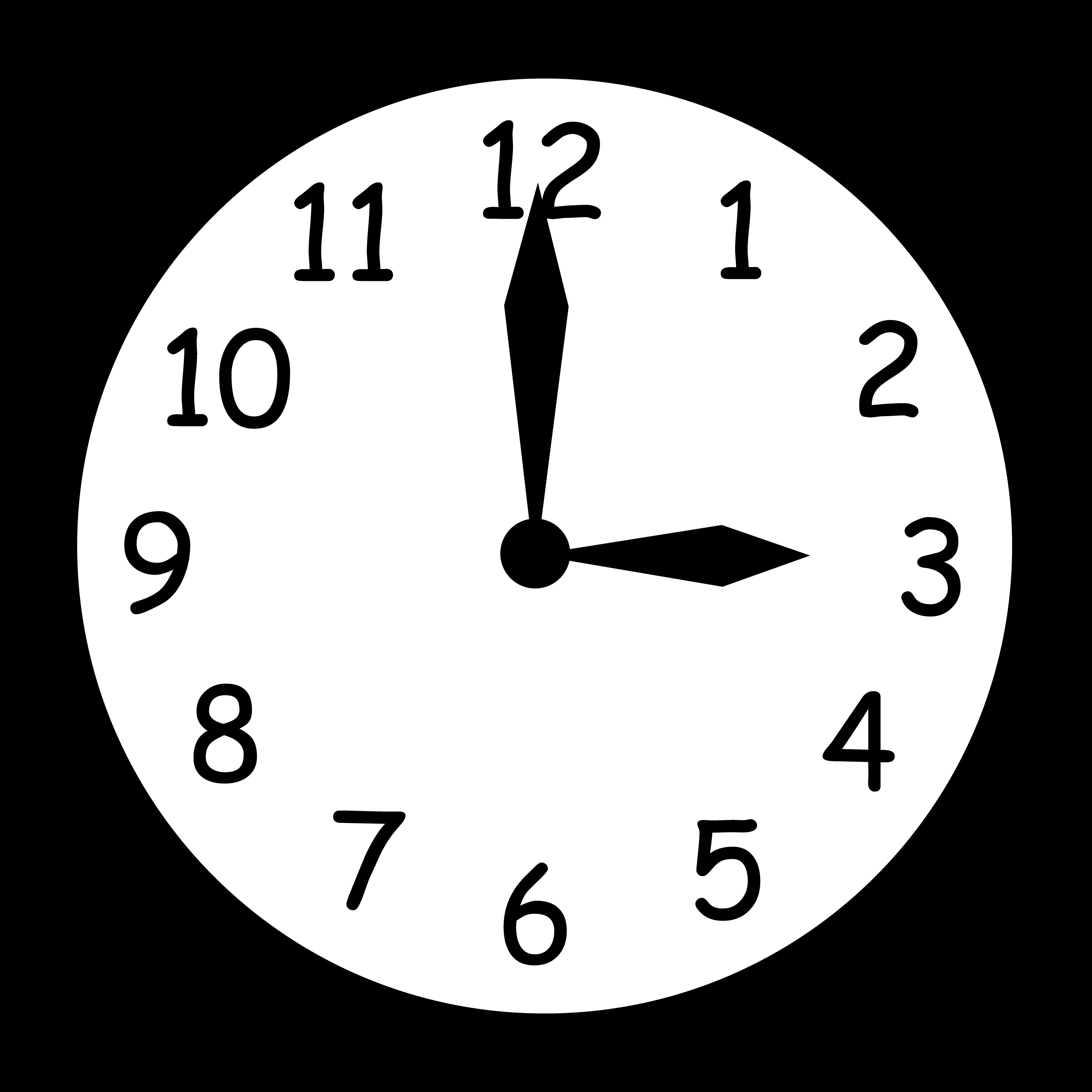 4400x4400 Wall Clock Striking Three