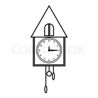 320x320 Square Wall Clock Icon. Outline Illustration Of Square Wall Clock