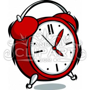300x300 Cartoon Clock Clipart