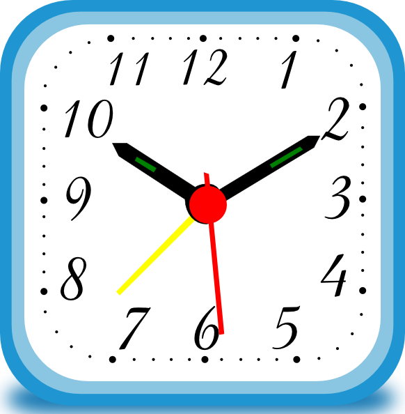 582x594 Clock Clipart For Kids