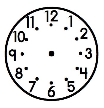 351x363 Clock Clipart Blank