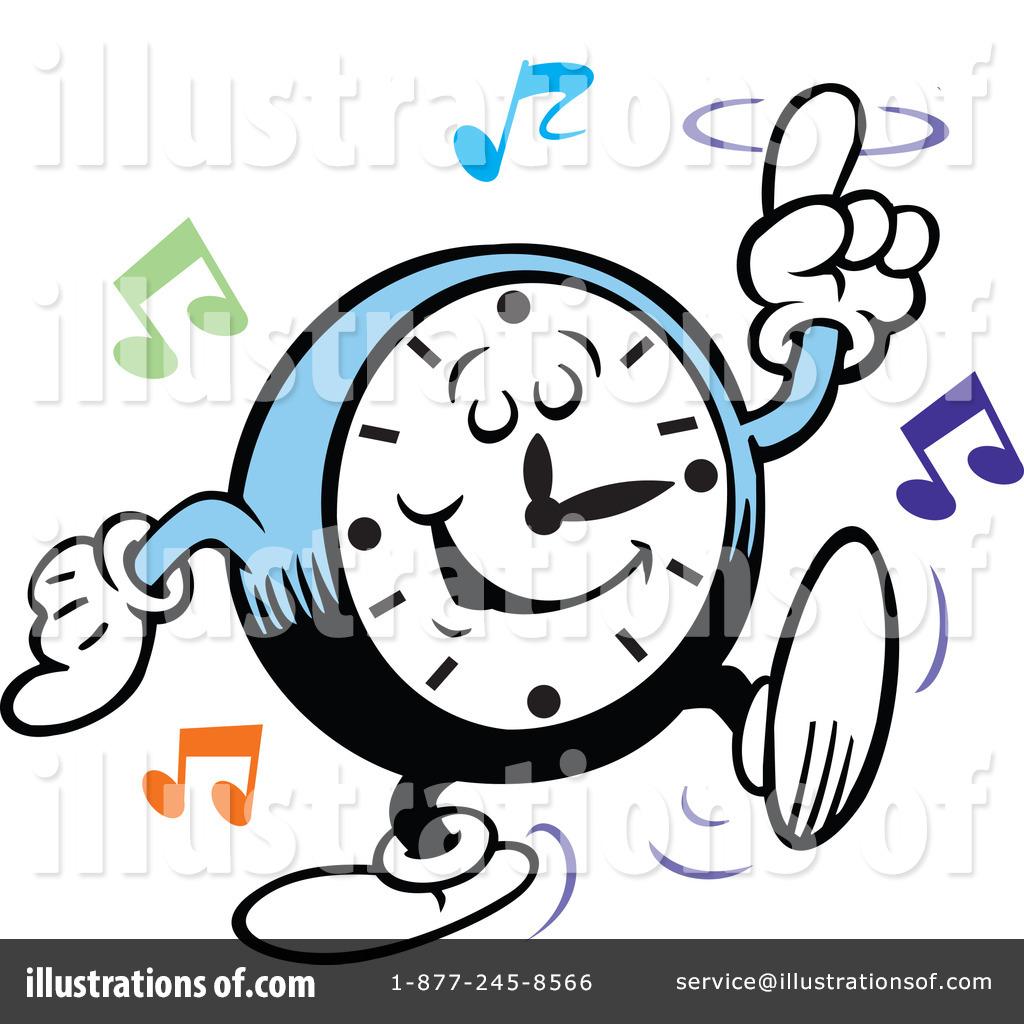 1024x1024 Dancing Clock Clipart