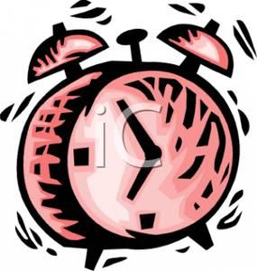 285x300 Pink Alarm Clock Clip Art Image