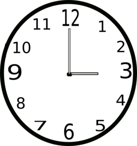 282x300 Time Clock Clipart Clipart Image