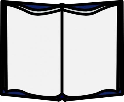 425x350 Closed Book Standing Clipart