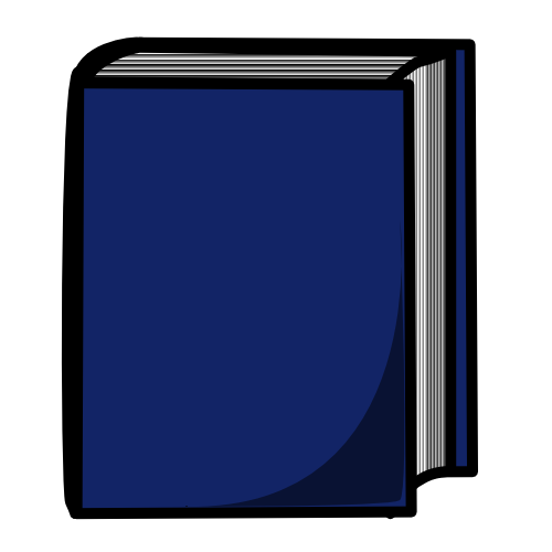 500x500 Free Blue Book Clipart