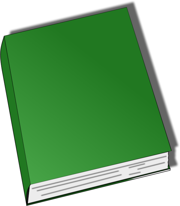 600x685 Image Of Closed Book Clipart