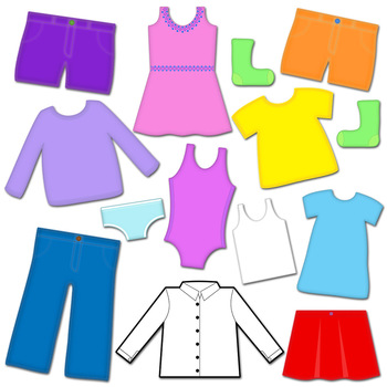 350x350 Clothes Clip Art Clothes Line And Clothes Pins Clipart Set Tpt