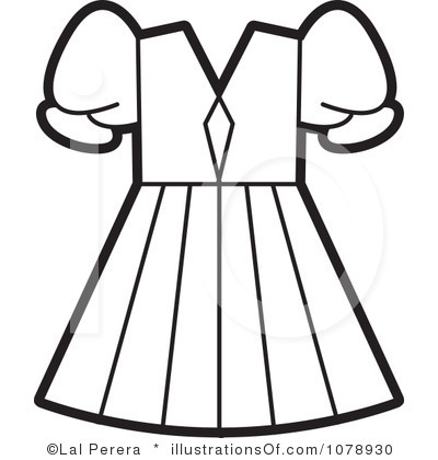 Clothes Clipart Black And White