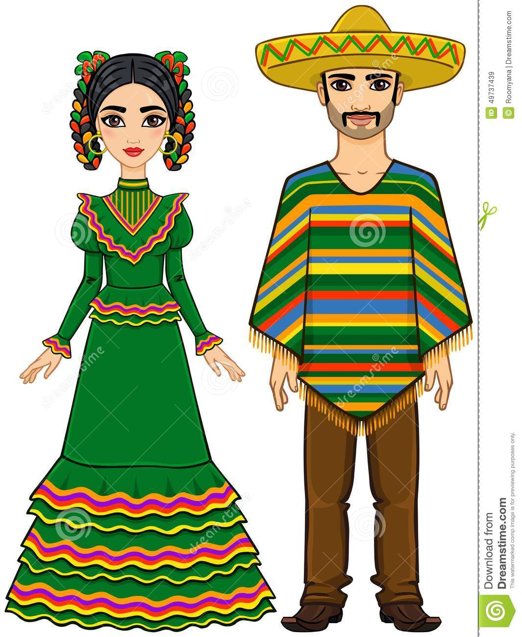 1065x1300 Mexican Clothing Clipart