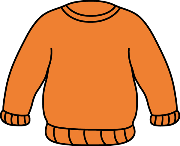 600x486 Orange Sweater Clip Art
