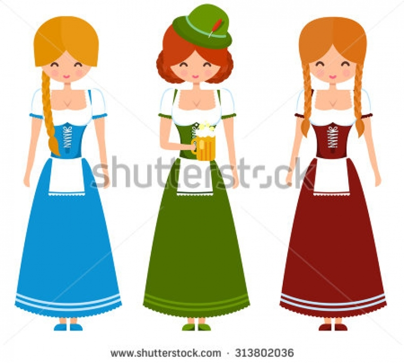 820x736 German Dress Stock Vectors Amp Vector Clip Art Shutterstock