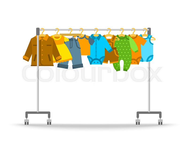 Clothing Rack Clipart