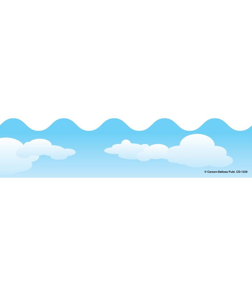 875x1000 Clouds Scalloped Borders Grade Pk 8 Carson Dellosa Publishing