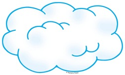 252x151 Cloud Outline Clip Art